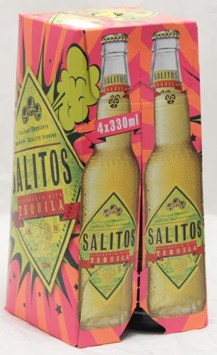 Salitos Tequila  0,33Ltr. 4er Tray
