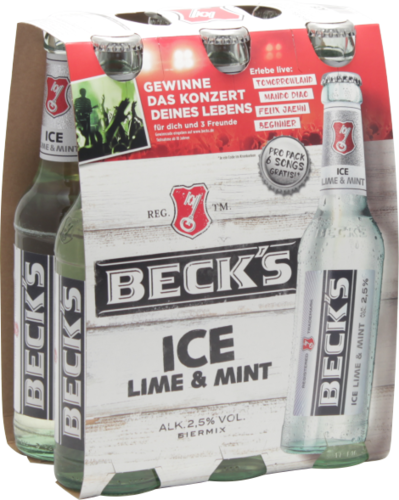 Beck's ICE Lime & Mint 6-Pack